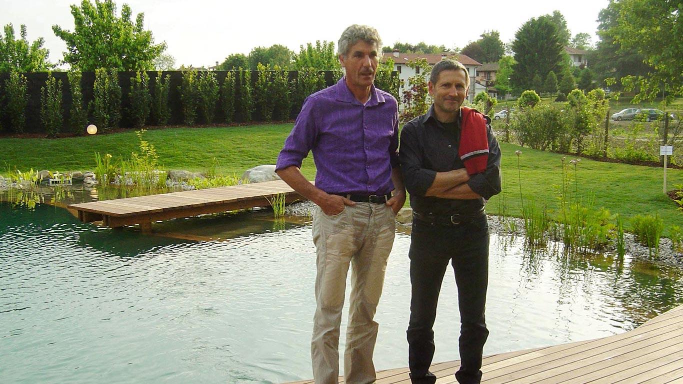 Giuseppe Pellizzari (a sinistra) e Gianfranco Basso (a destra)